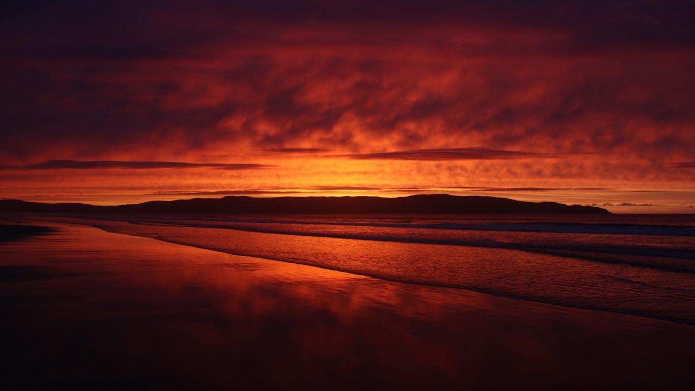Beautiful Dark Sunset Hd Wallpaper 1366x768 Hd Wallpaper