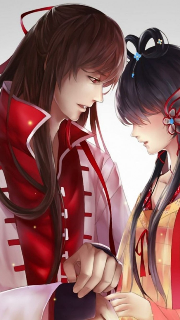 Cute Anime Couple Beautiful Hd Wallpaper For Desktop And Mobiles