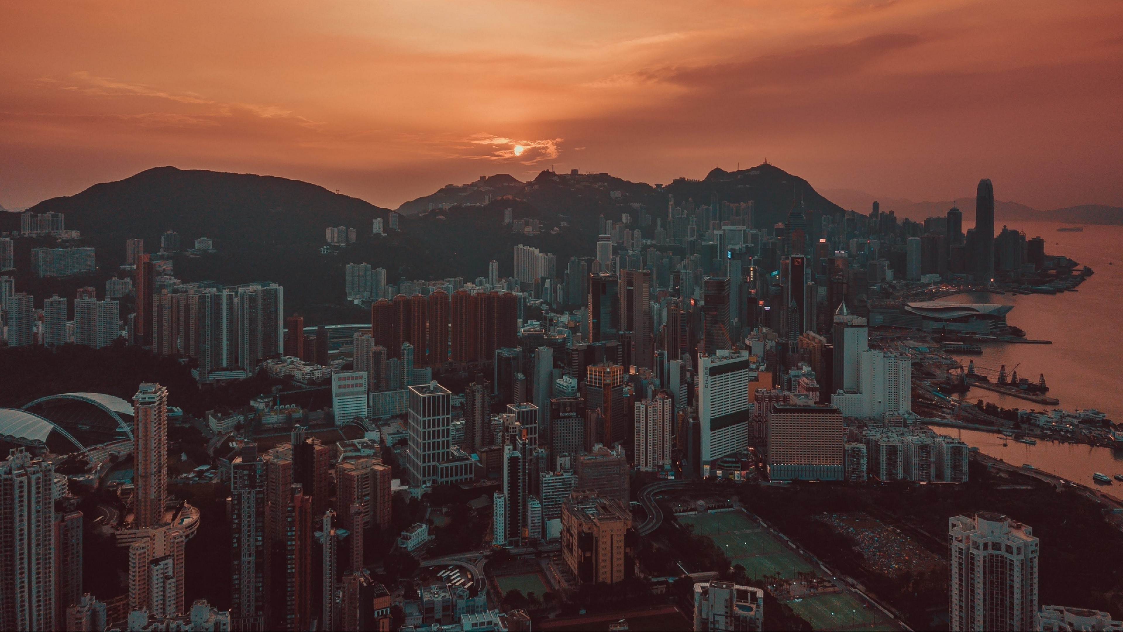 Hong Kong Sunset Hd Wallpaper 4k Ultra Hd Hd Wallpaper