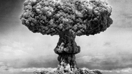 Atomic Bomb Black and white HD Wallpaper