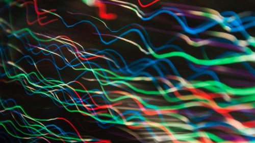 Colorful wavy lines HD Wallpaper