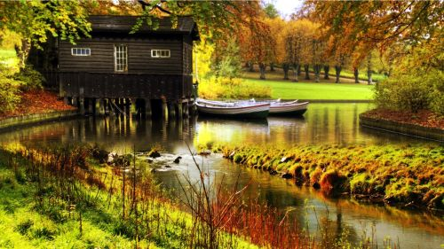Cottage over River