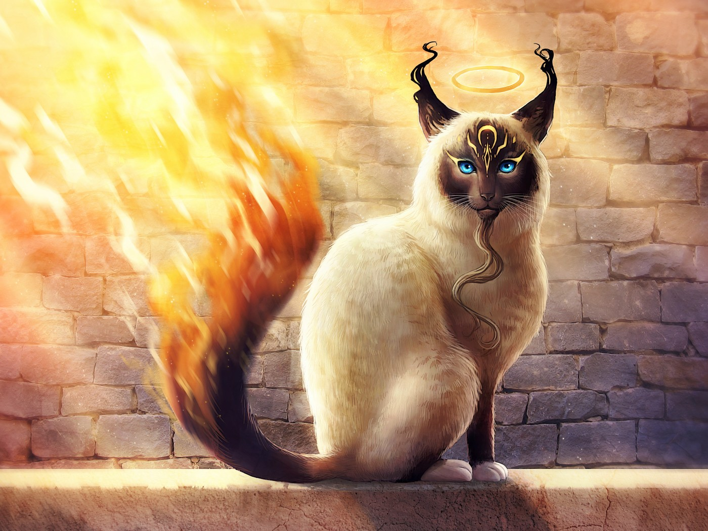 Download Free Birman Catamancer 4K Wallpaper for Desktop and Mobiles