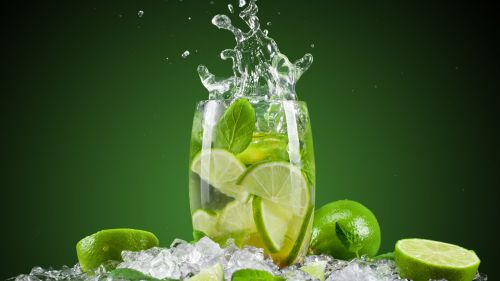 Download Lime Mint Water Cocktails Wallpaper for Desktop and Mobiles