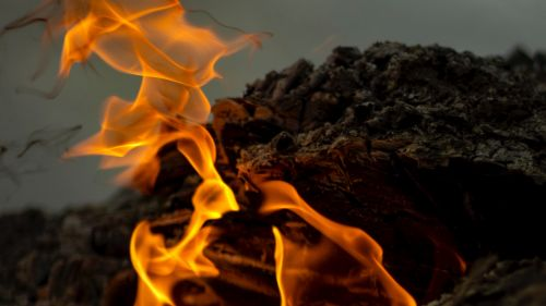 Fire close-up HD Wallpaper