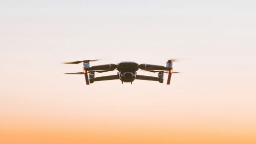 Flying drone HD Wallpaper
