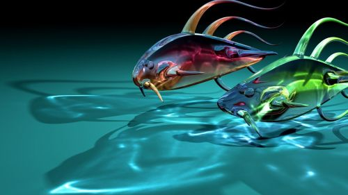 Glassy fishes HD Wallpaper