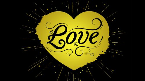 Love inscription HD Wallpaper