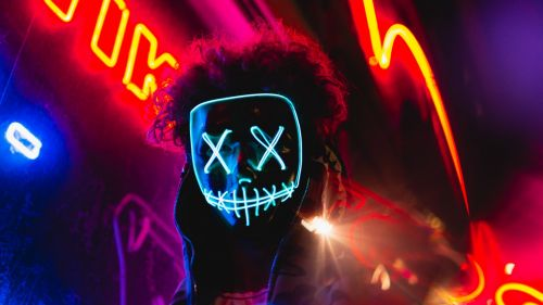 Neon mask HD Wallpaper