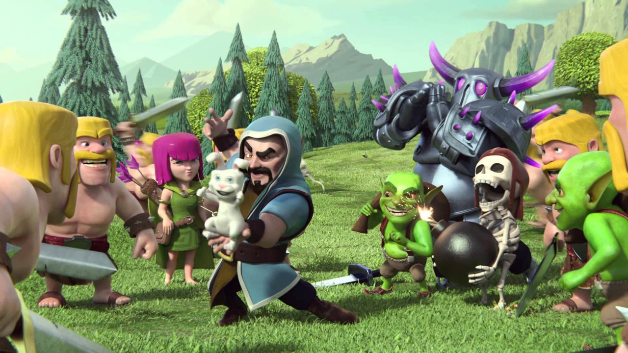 Clash Of Clans Wizard Hd Wallpaper For Desktop And Mobiles 1280x720
