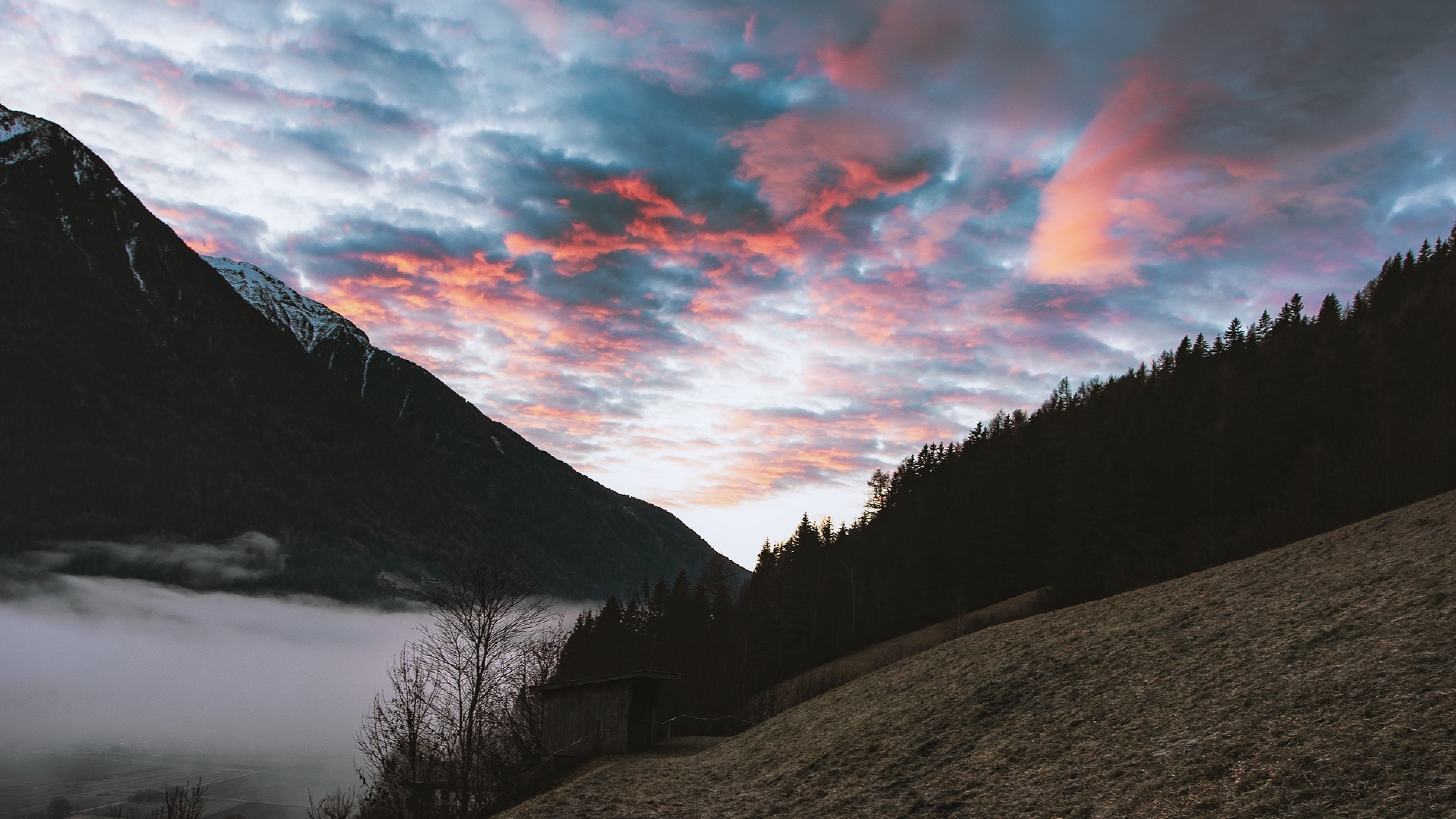 Cloudy Sky Ovee The Mountains Of Italy Hd Wallpaper 4k Ultra