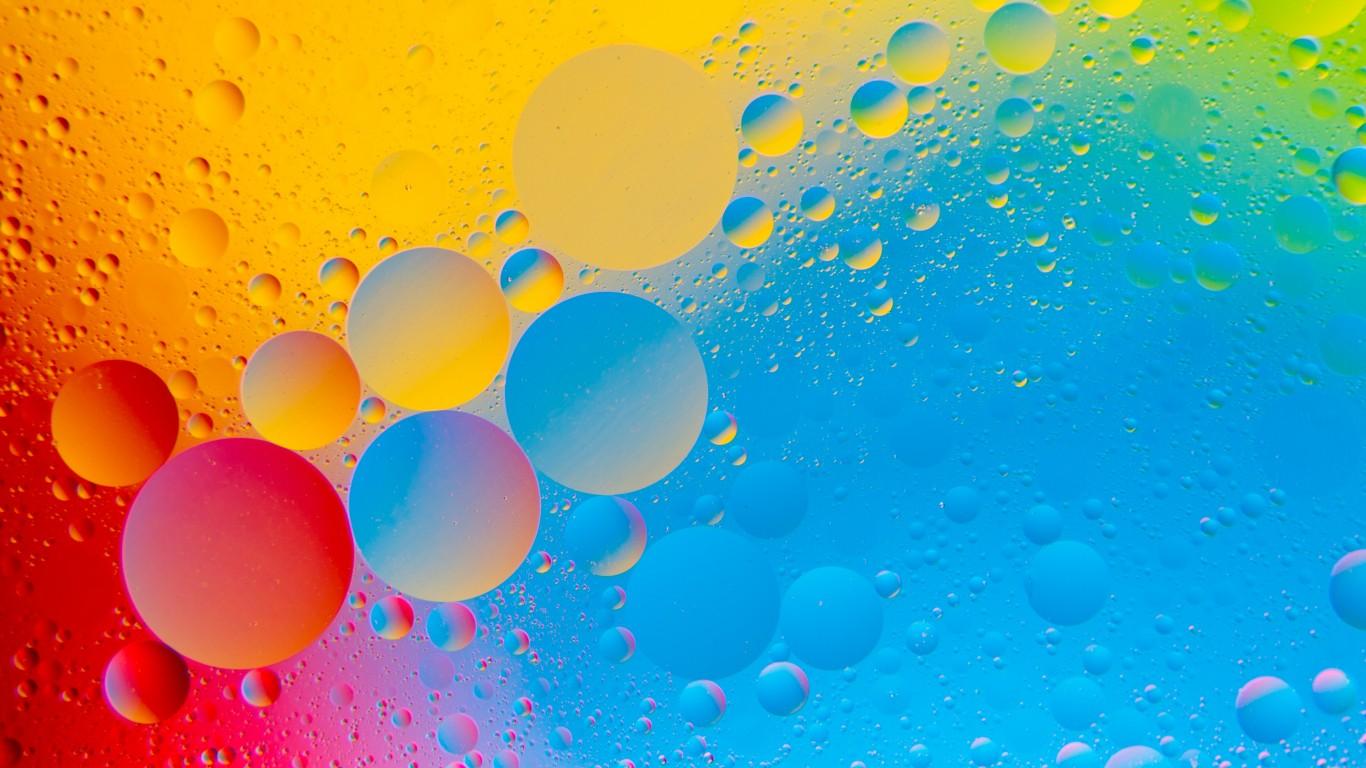 colourful bubbles 4k hd abstract wallpaper 1366x768 - hd wallpaper