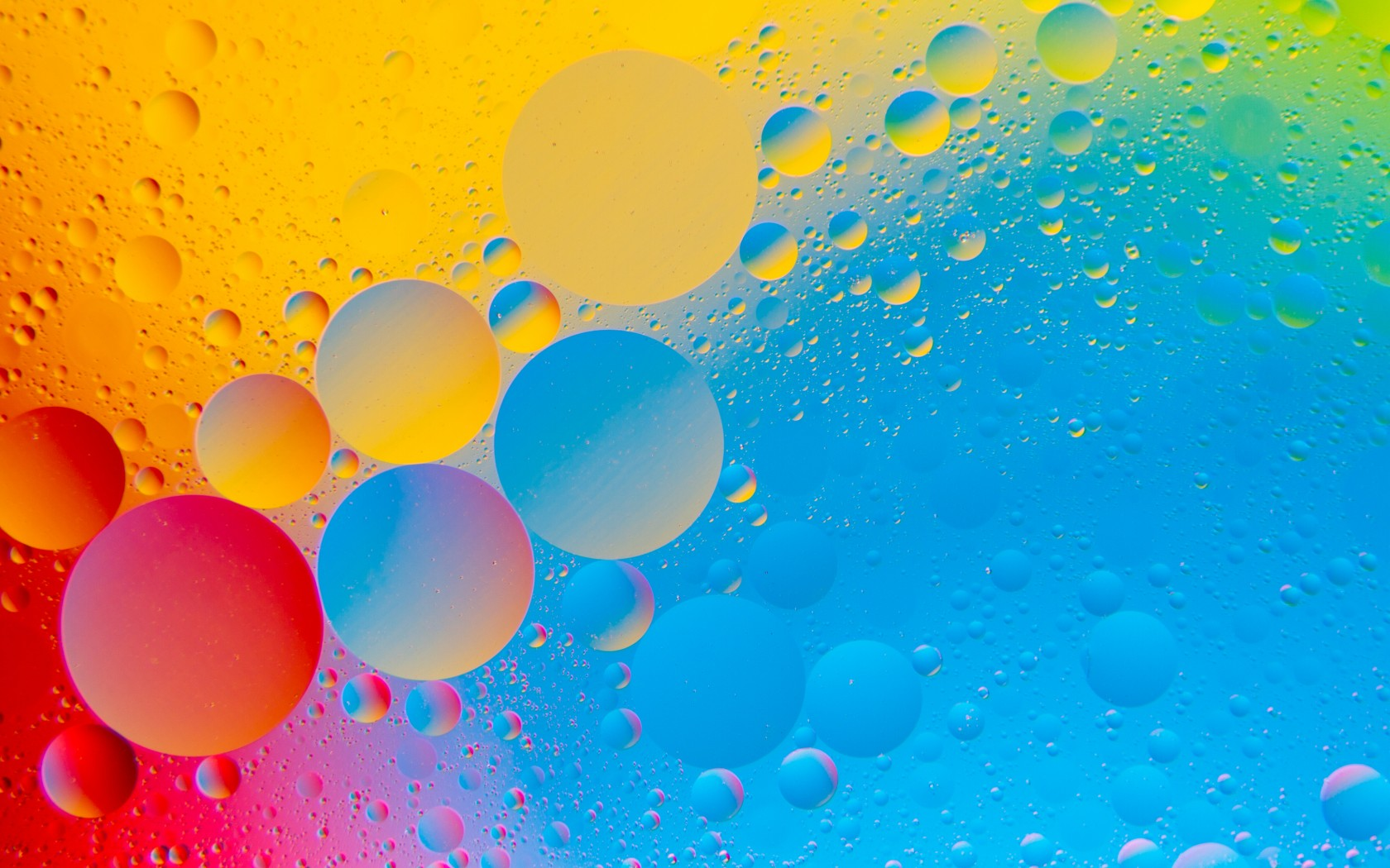 Colourful Bubbles 4K HD Abstract Wallpaper 1680x1050