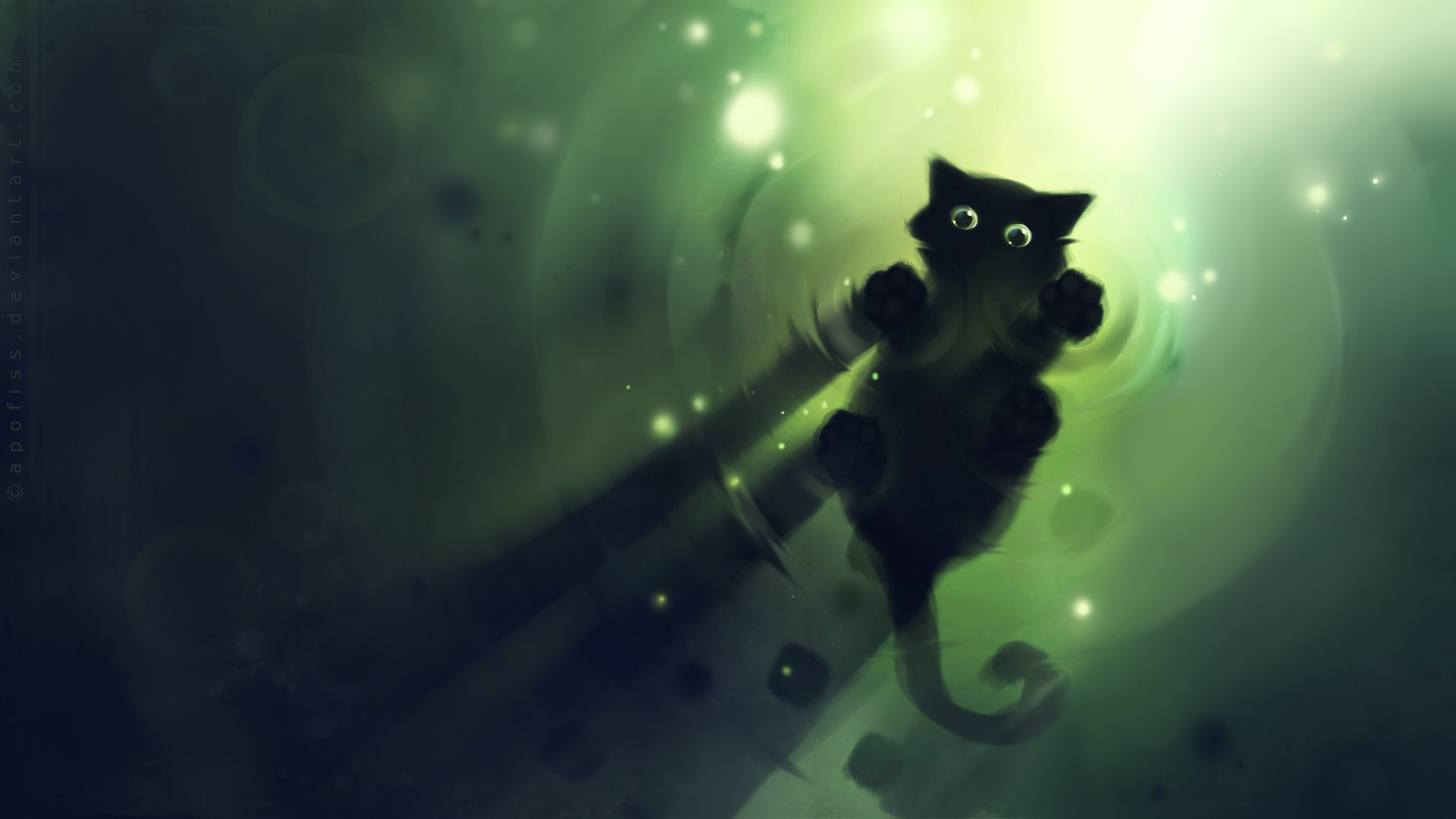 Cute Animated Cat Cartoon Background Wallpaper For Desktop And