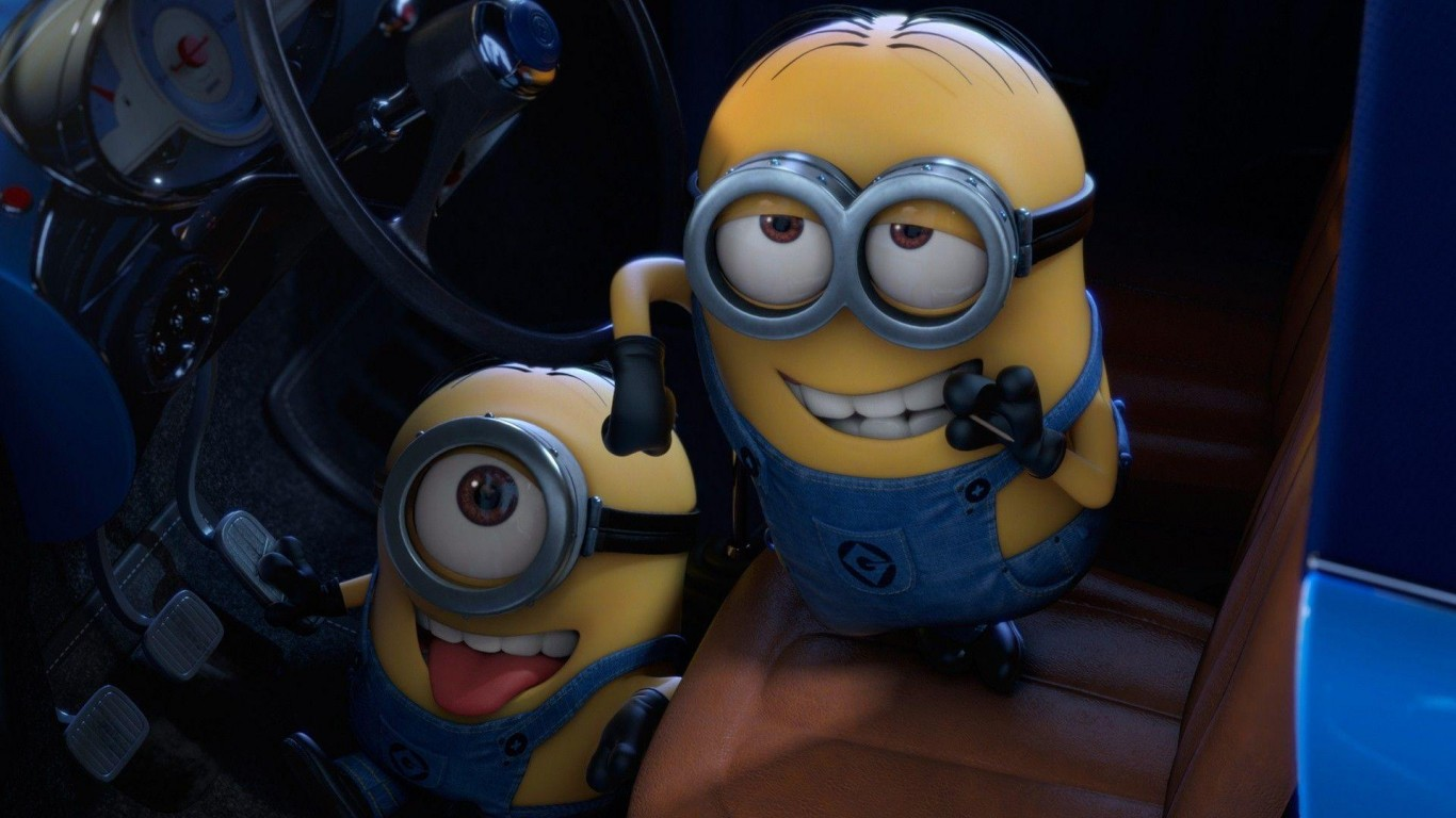 Flirting Minions Wallpaper 1366x768 Hd Wallpaper Wallpapersnet