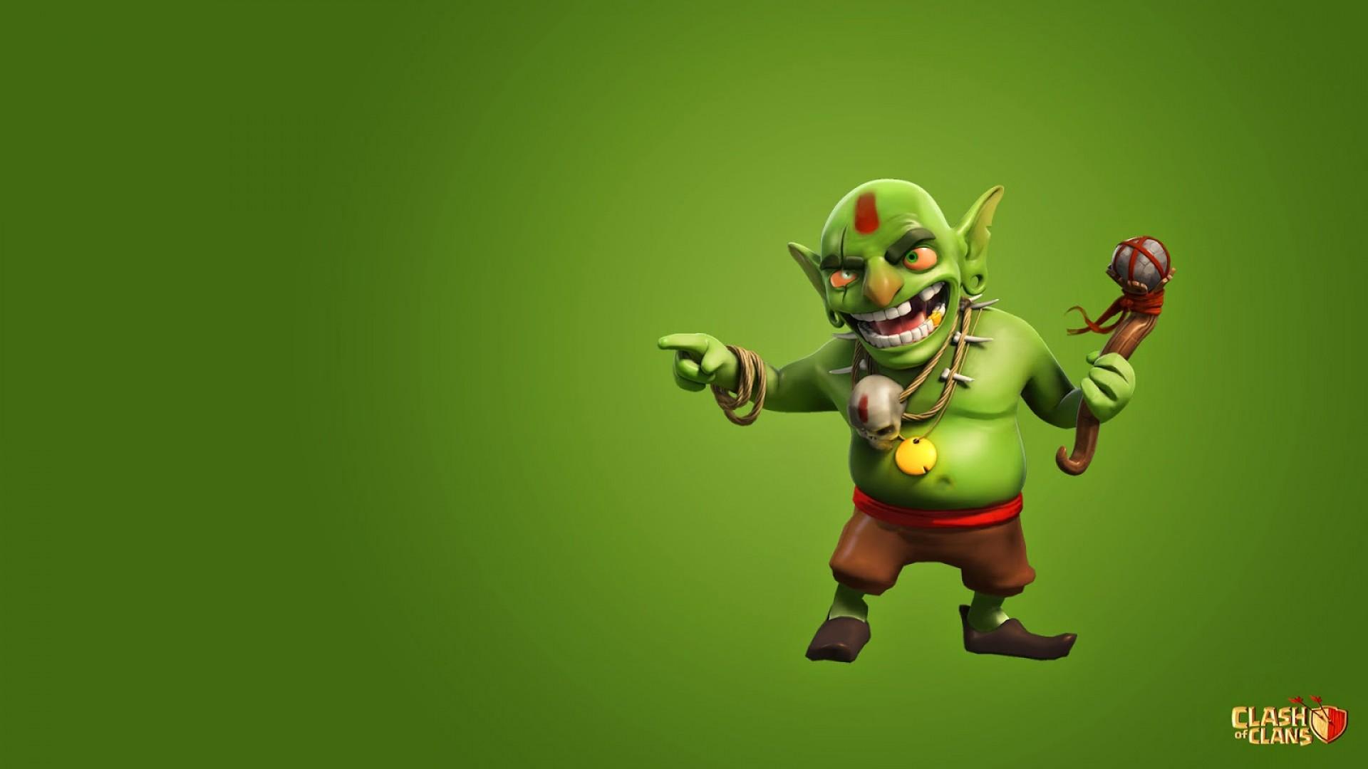 Free Download Clash Of Clans Goblin Full Hd Wallpaper For Desktop