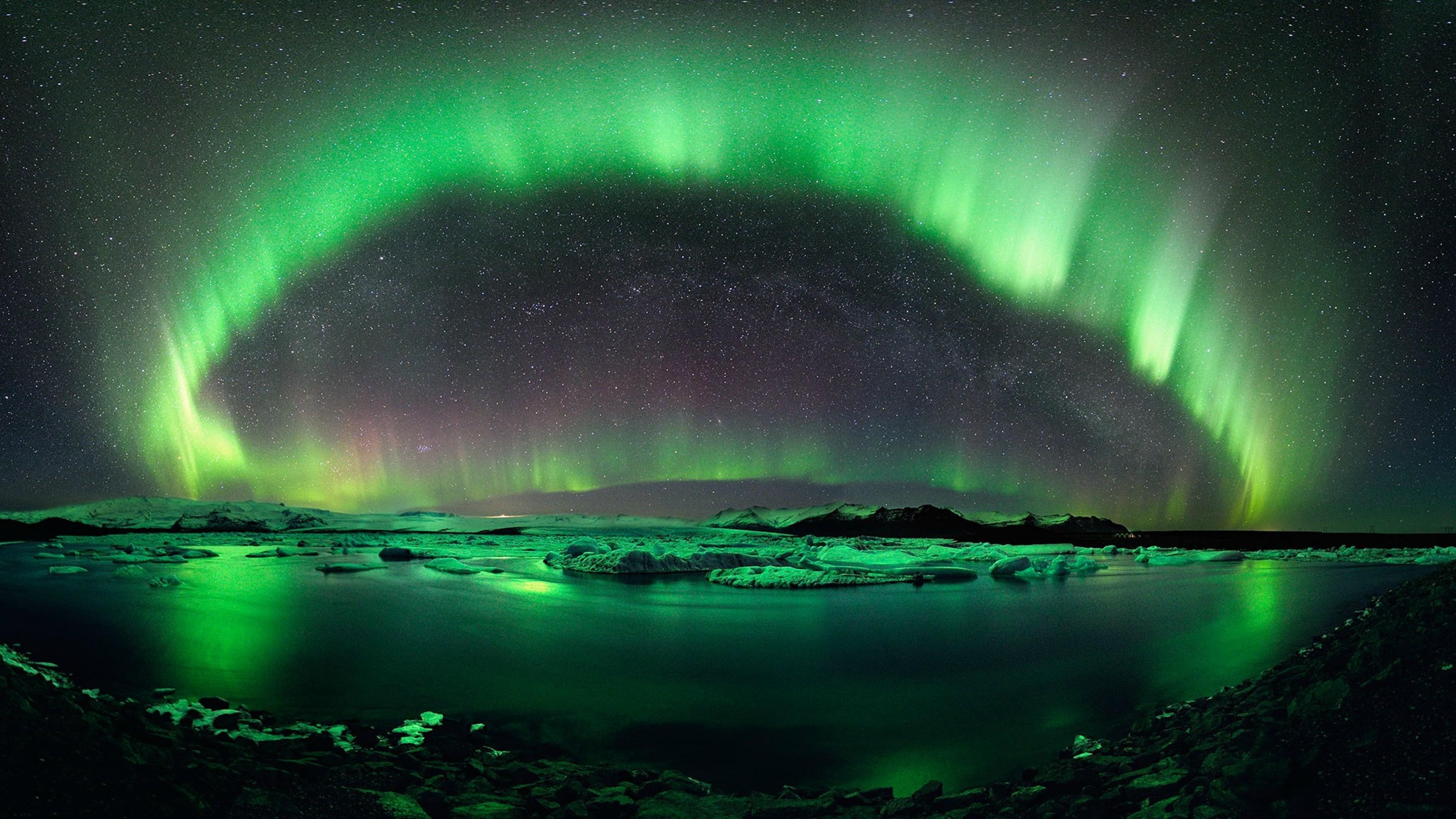 Free Download Green Aurora Borealis Wallpaper For Desktop
