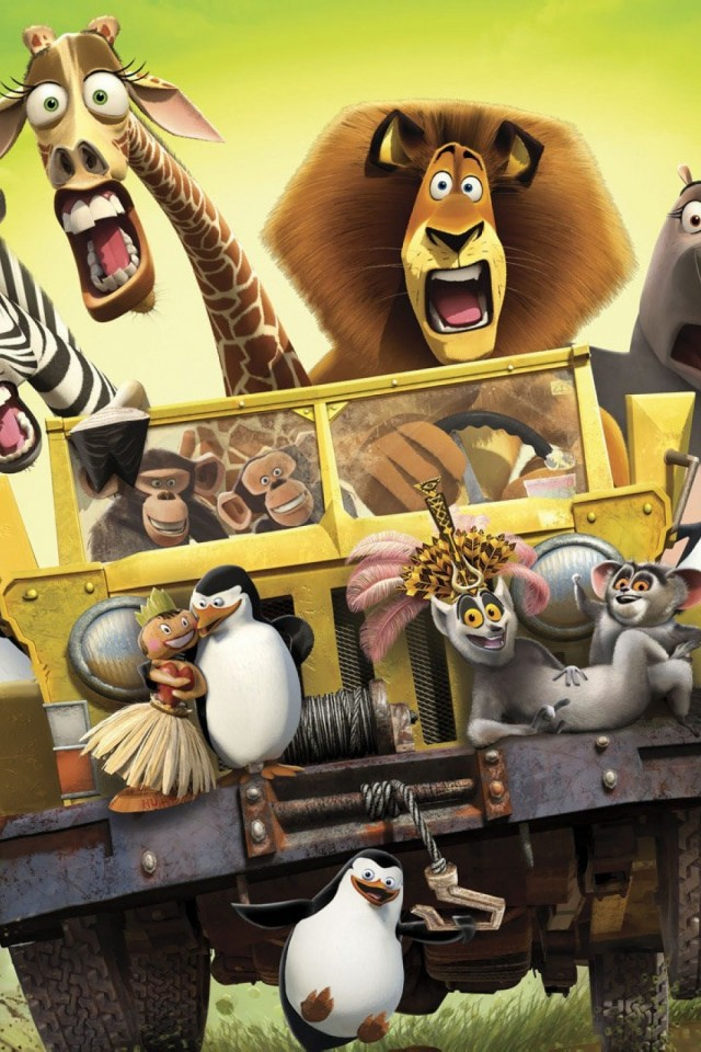 Free Madagascar Movie Hd Wallpaper for Desktop and Mobiles iPhone 4