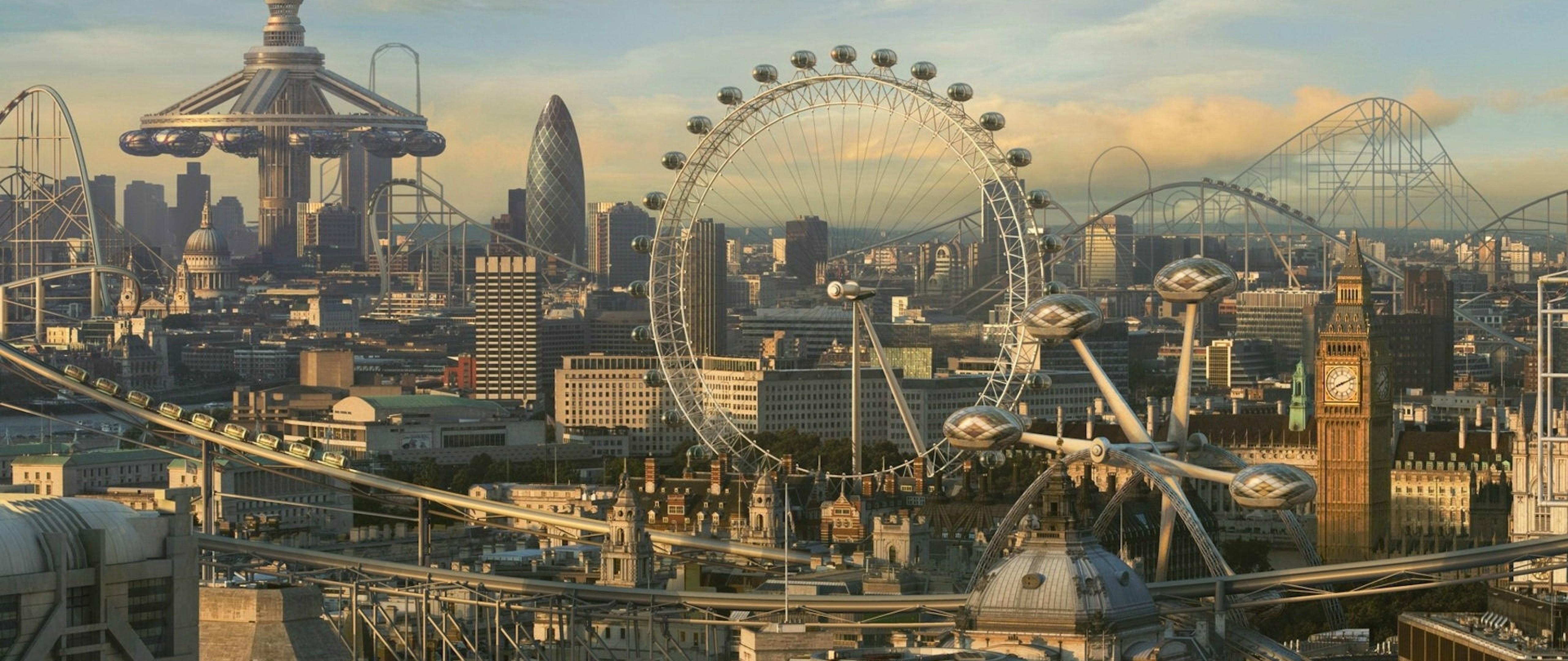 Futuristic London Buildings Hd Wallpaper 4k Ultra Hd Wide Tv