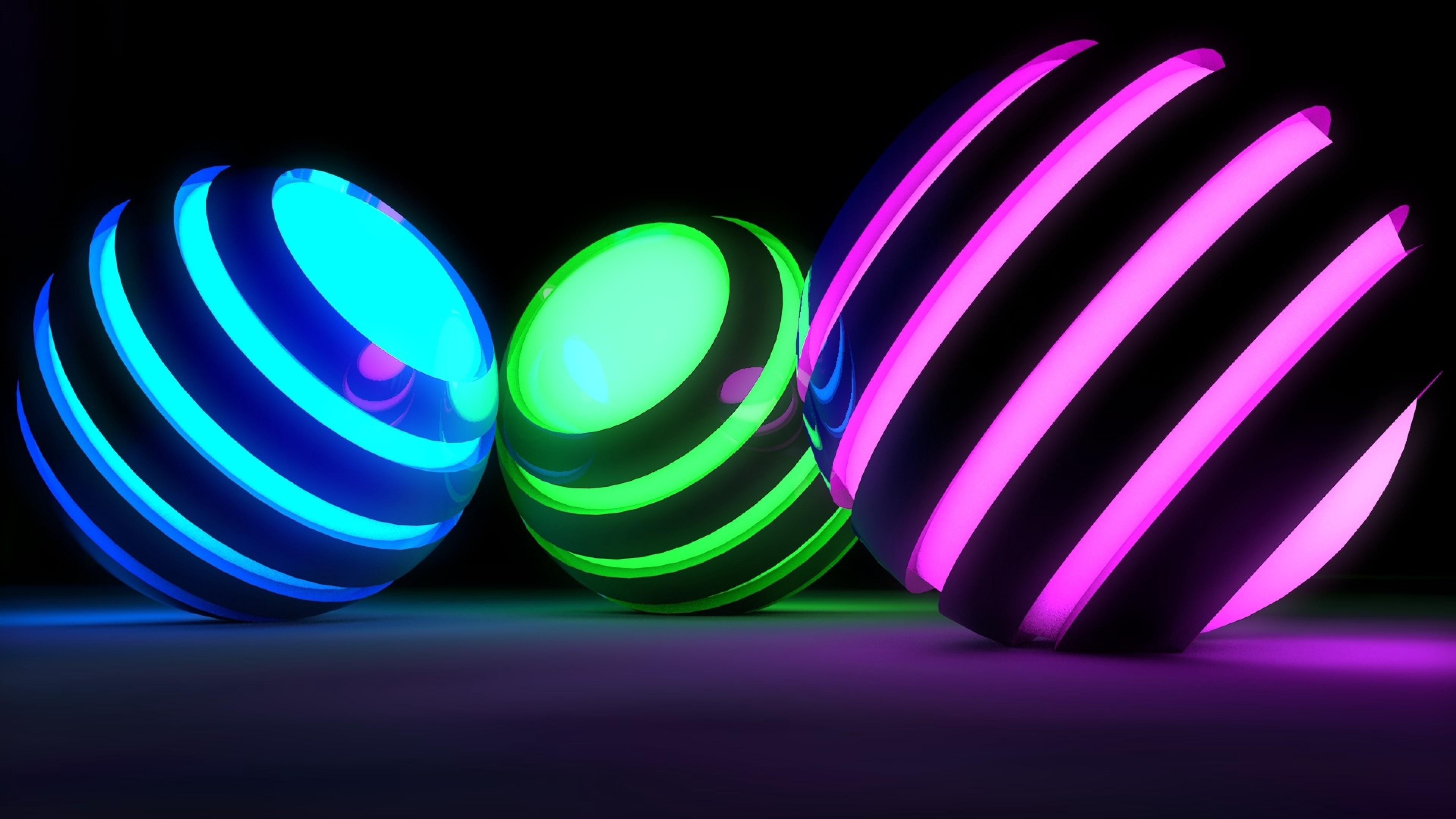 Glowing Bright Balls Hd Wallpaper 4k Ultra Hd Hd Wallpaper