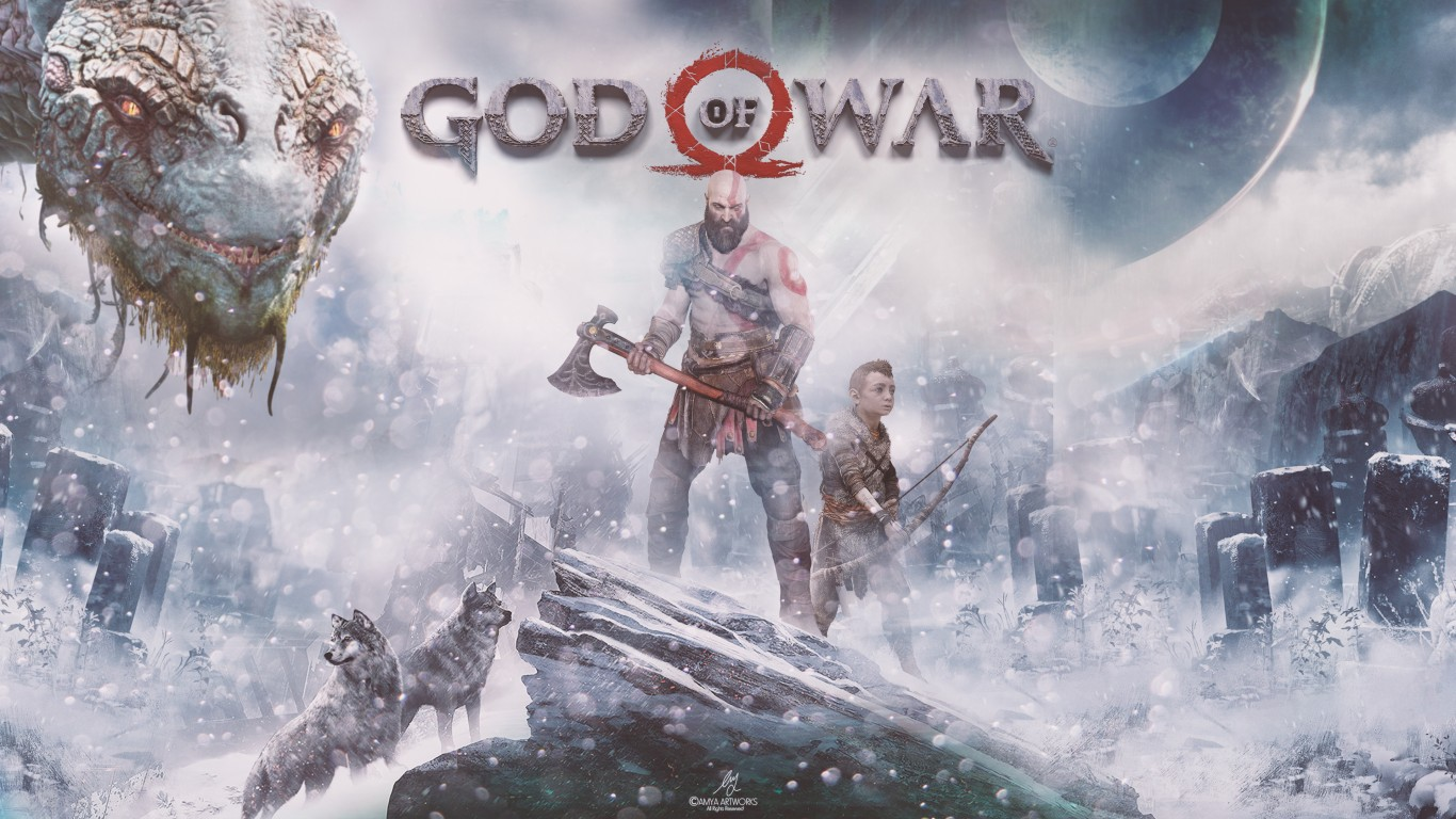 God of war ps4 4k hd wallpaper 1366x768 hd wallpaper - 4k wallpaper of god ...