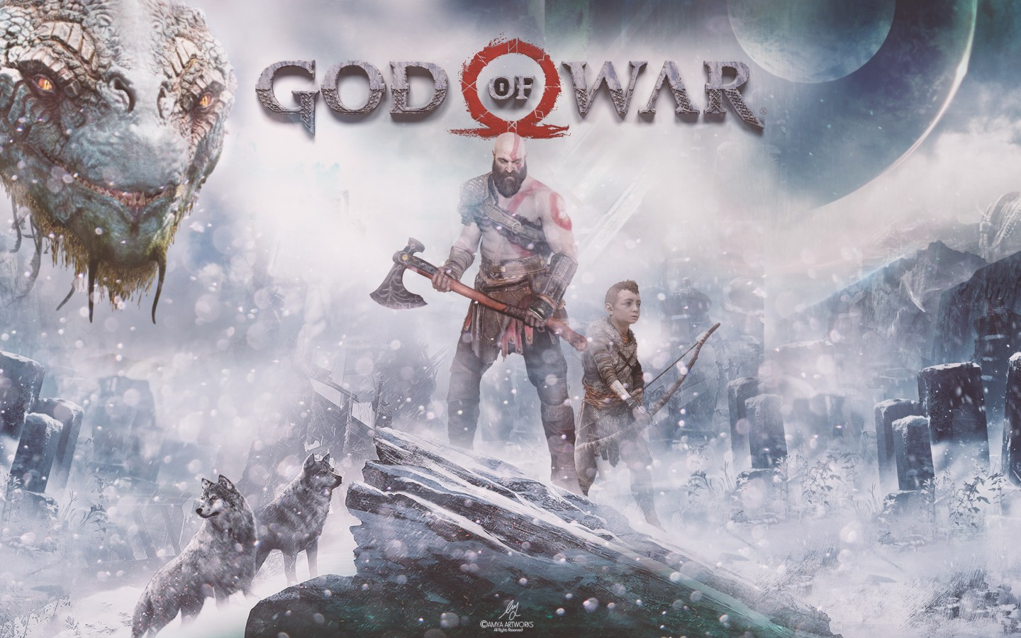 god of war ps4 4k hd wallpaper 1440x900 - hd wallpaper - wallpapers