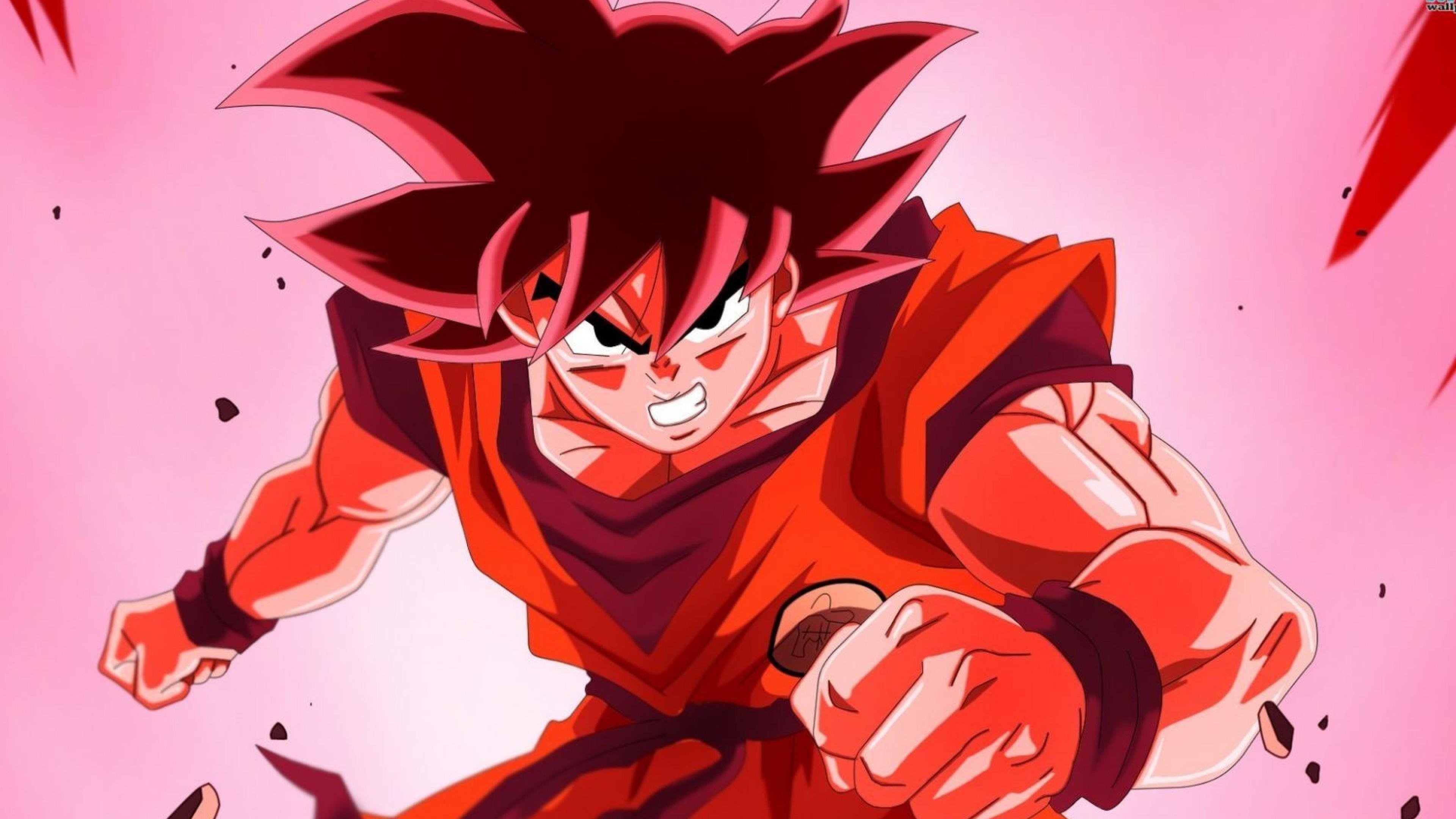 Goku Red Dragonball Z Wallpaper For Desktop And Mobiles 4k Ultra Hd