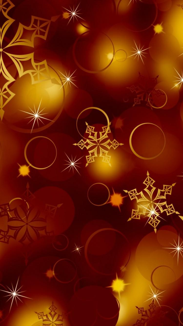 Golden Snowflakes Hd Wallpaper Iphone 6 6s Hd Wallpaper