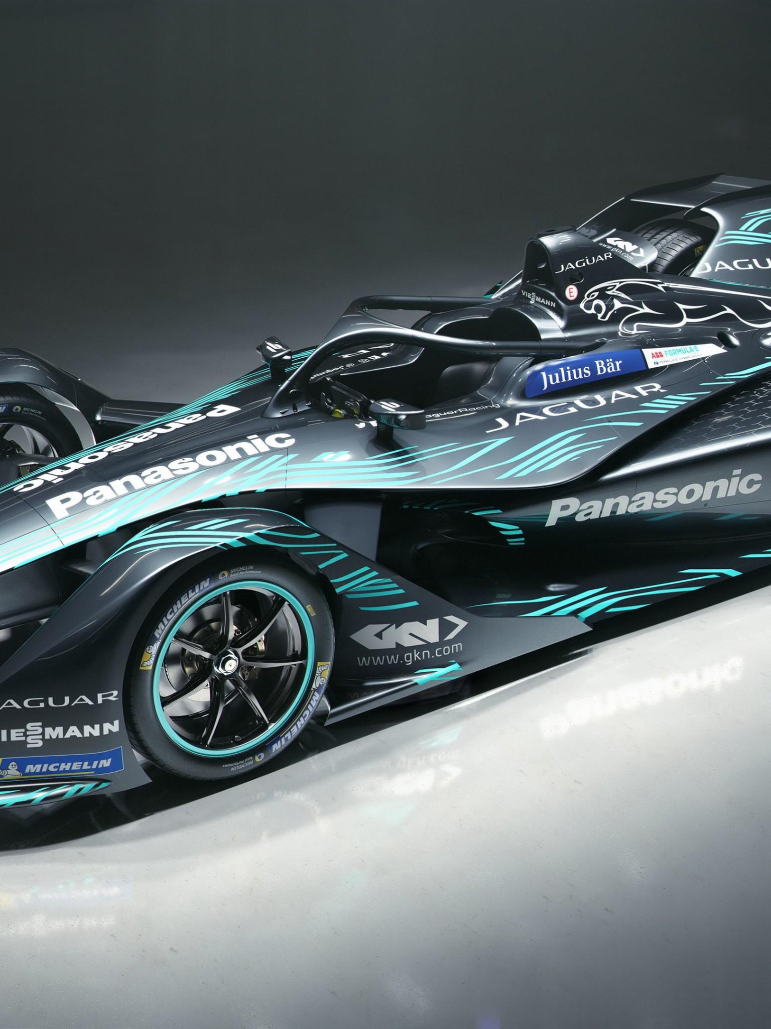 Jaguar I Type Electric Formula E Car 4K Retina IPad
