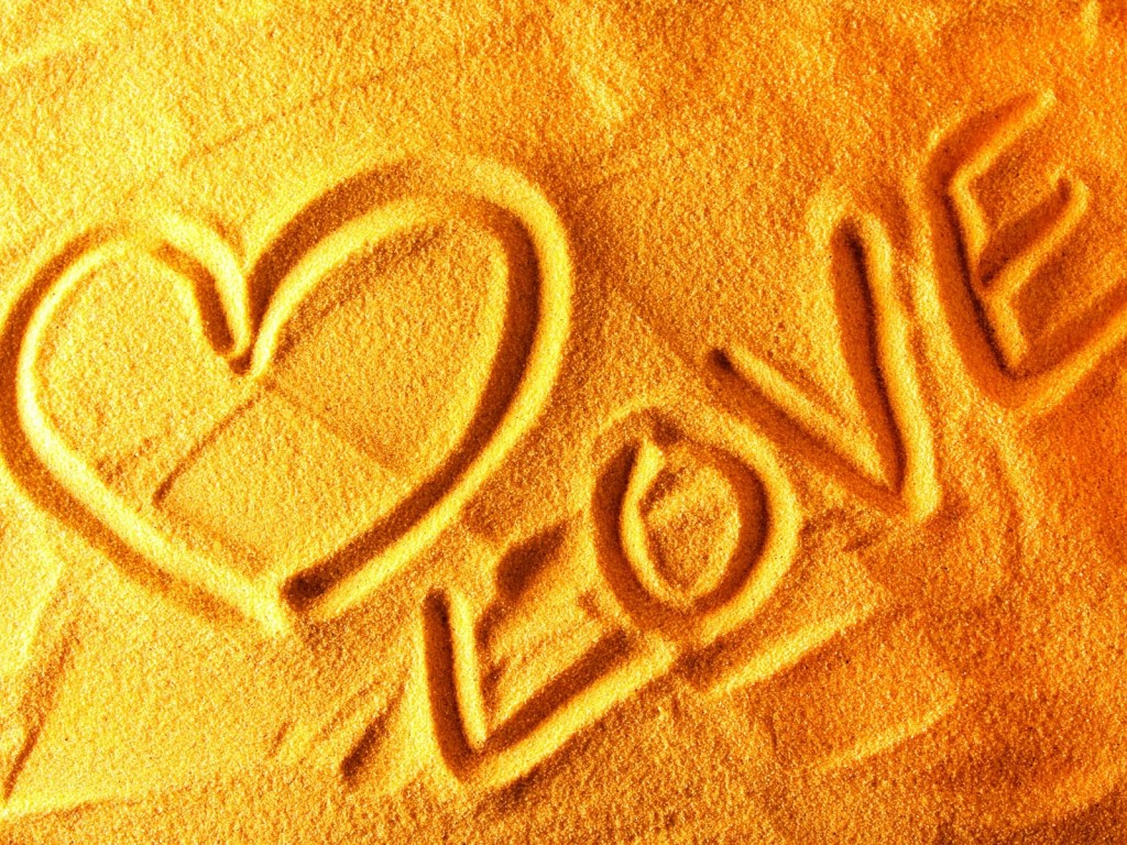 Love written on sand wallpaper for desktop and mobiles 1024x768 hd love written on sand wallpaper thecheapjerseys Choice Image