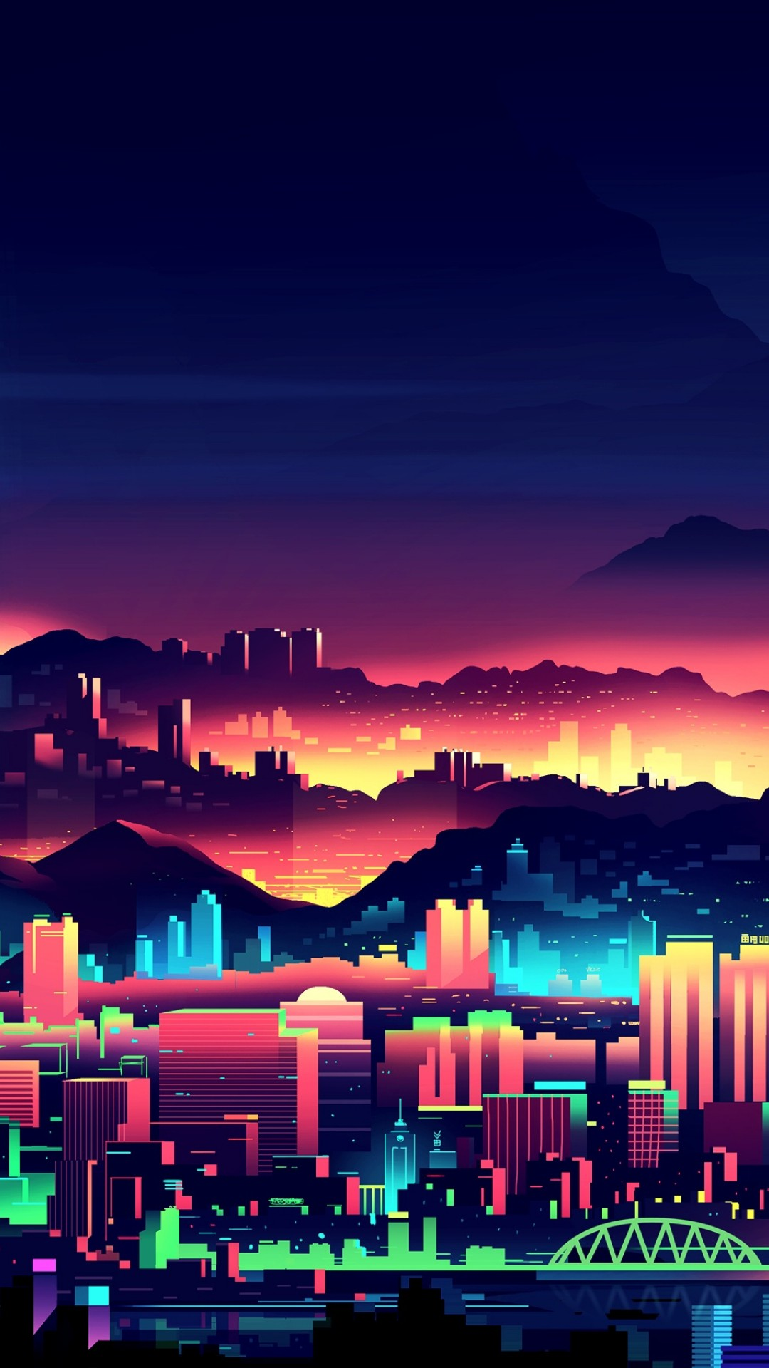 Neon City Wallpaper For Desktop And Mobiles Iphone 6 6s Plus Hd