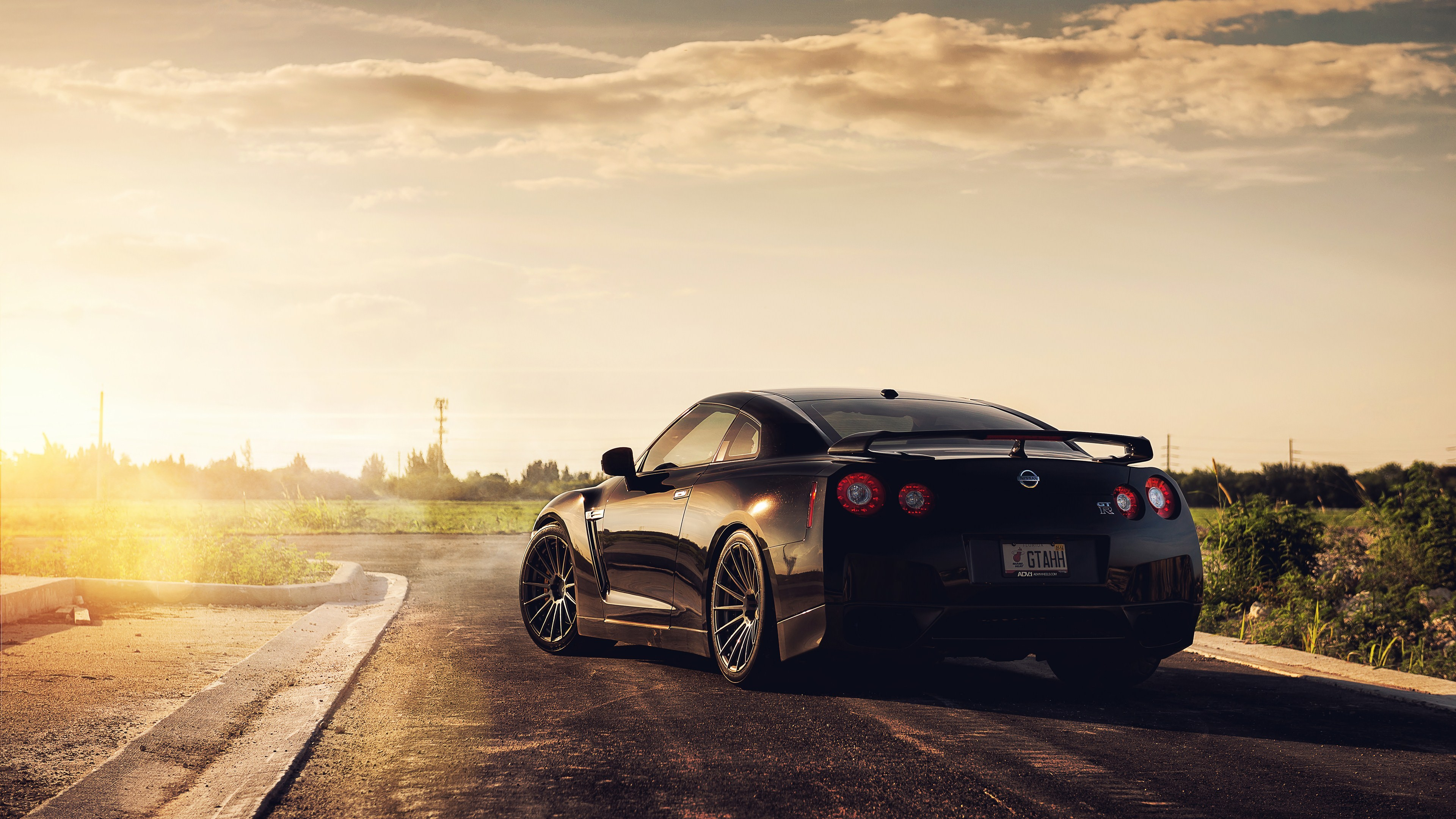 Nissan Gtr Black Car Wallpaper For Desktop And Mobiles 4k Ultra Hd