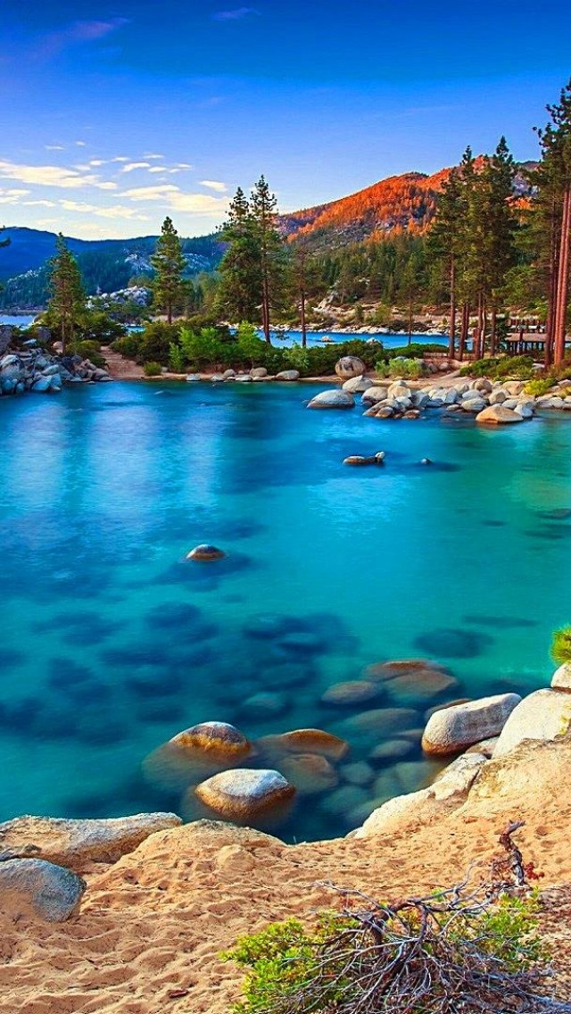 Sand Harbor Lake Tahoe Hd Wallpaper Iphone 5 5s Ipod