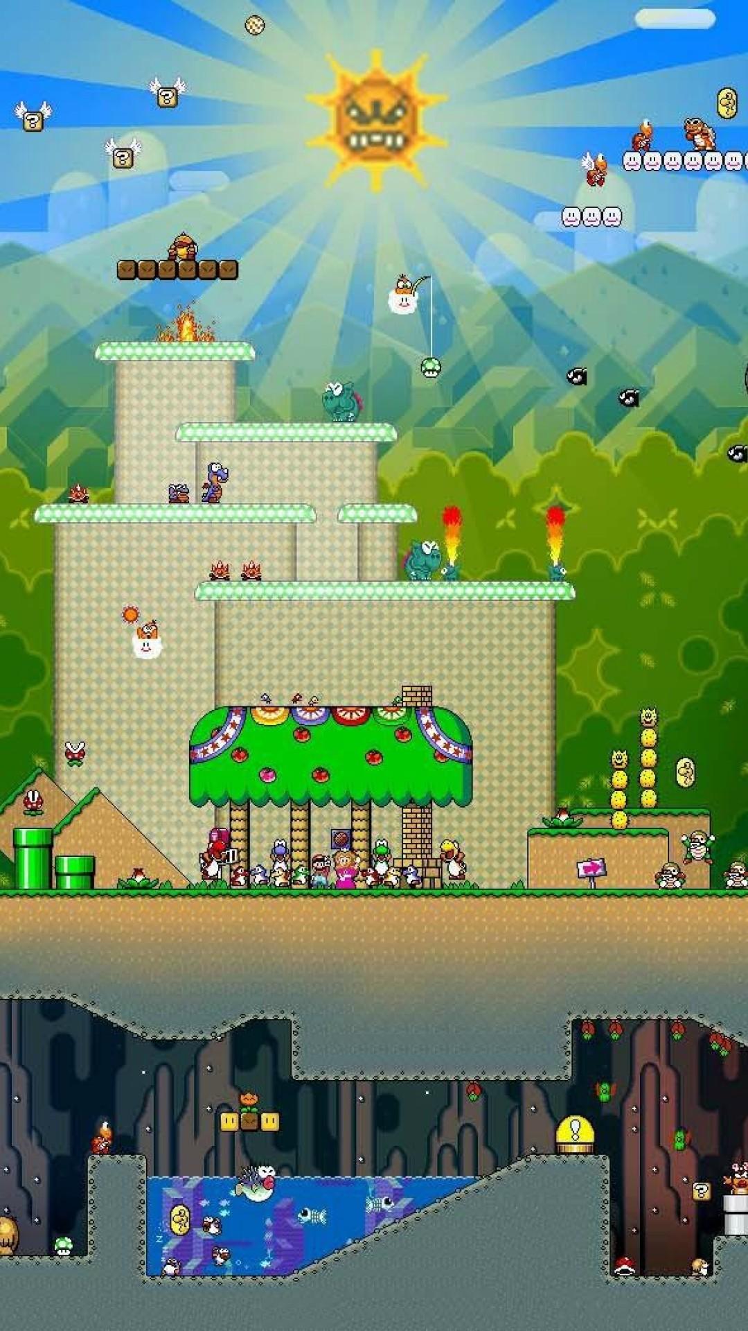 Super Mario World Remake Hd Wallpaper Iphone 6 6s Plus Hd