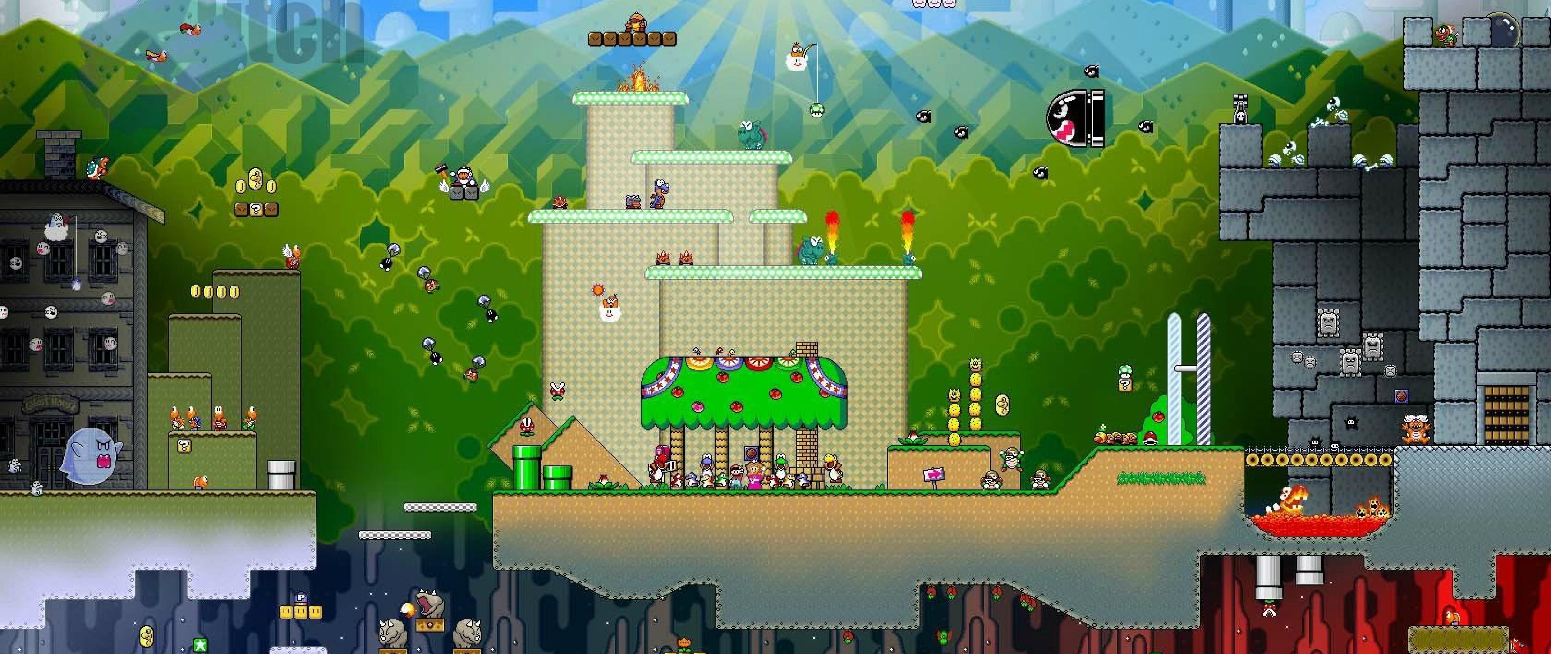 Super Mario World Remake Hd Wallpaper 4k Ultra Hd Wide Tv