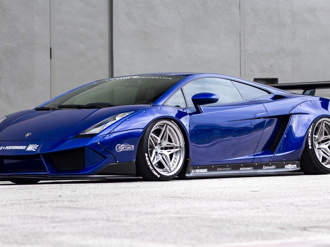 Blue Lamborghini Gallardo HD Wallpaper