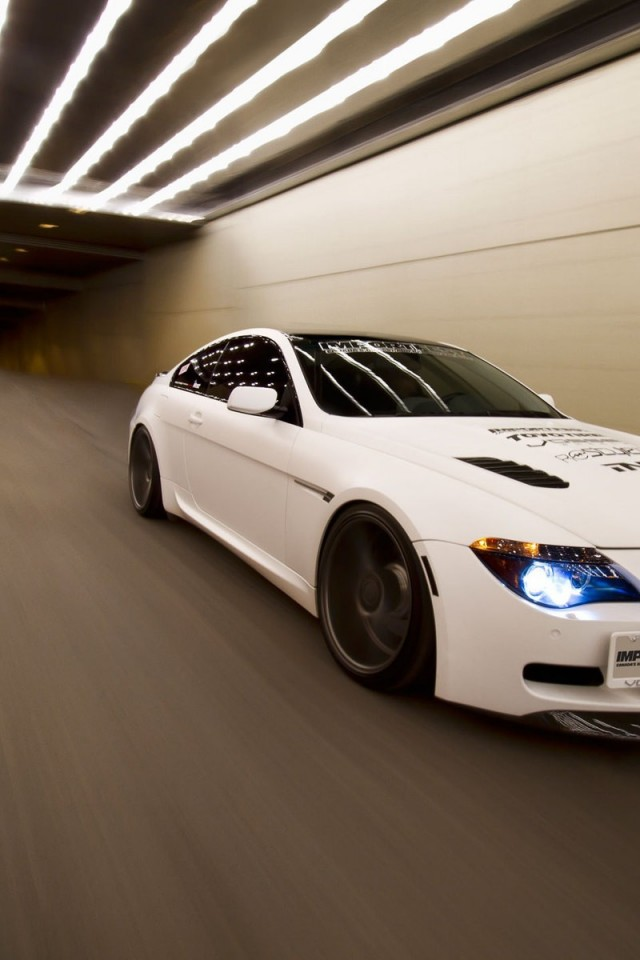 Bmw M6 tunnel tuning white HD Wallpaper iPhone 4 / 4S ...
