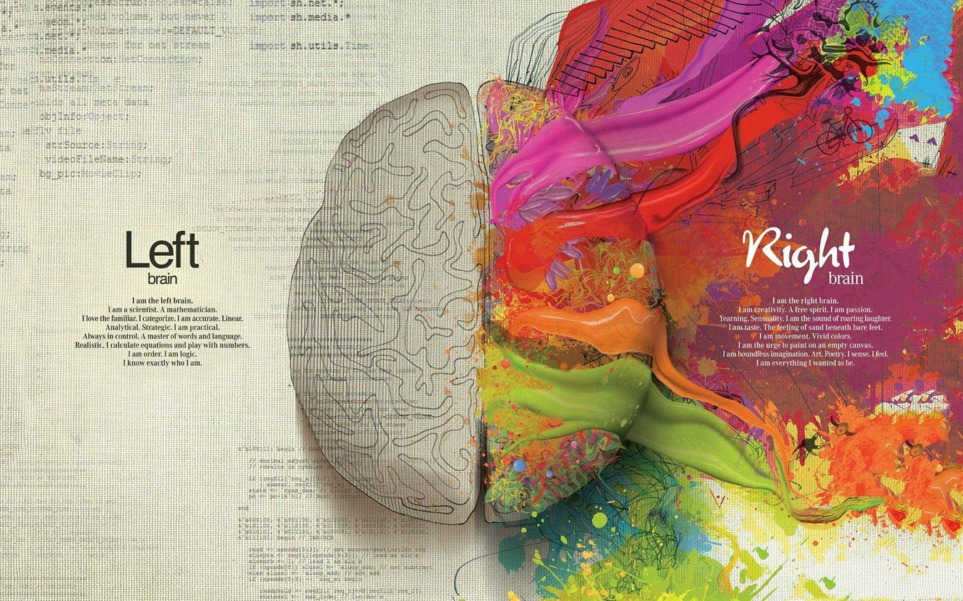 Brain Quote Wallpaper for Desktop and Mobiles