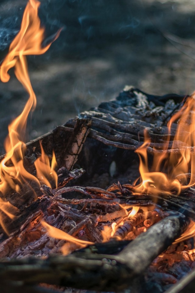 Camping Fire HD Wallpaper