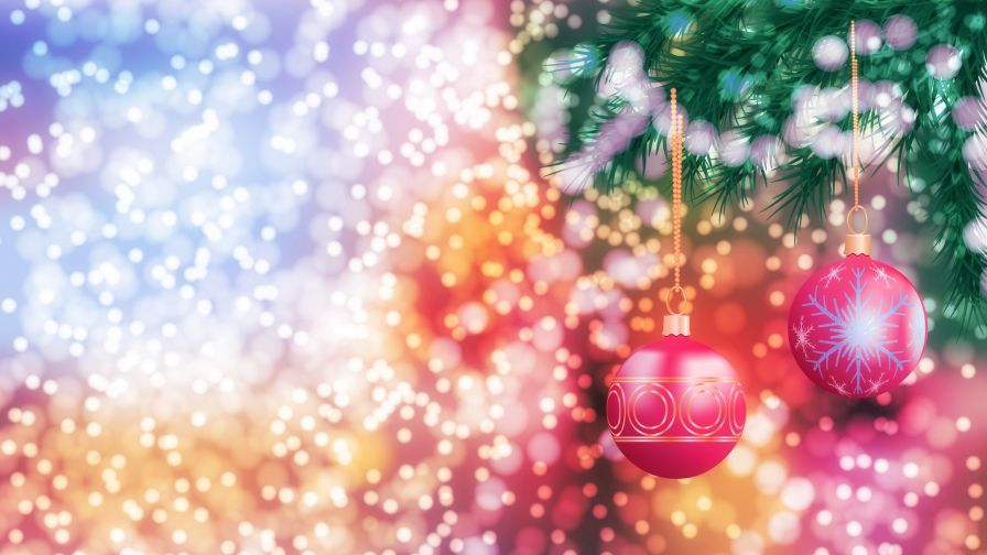 Christmas Colored Toys Hd Wallpaper Wallpapers Net