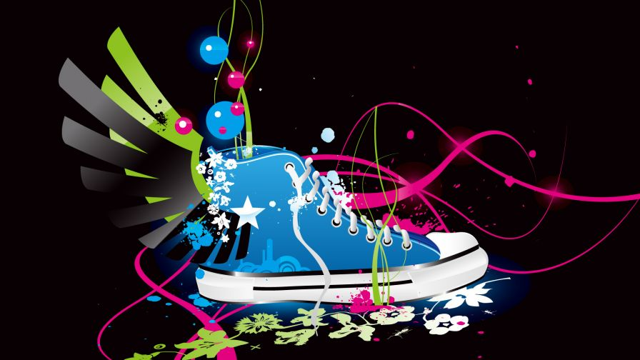 Colourful Shoe Vector Wallpaper for Desktop and Mobiles