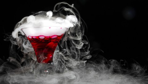 Cocktail Dry Ice Full Hd Wallpaper for Desktop and Mobiles