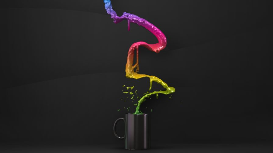 Coloured Coffee Cup Hd Wallpaper for Desktop and Mobiles