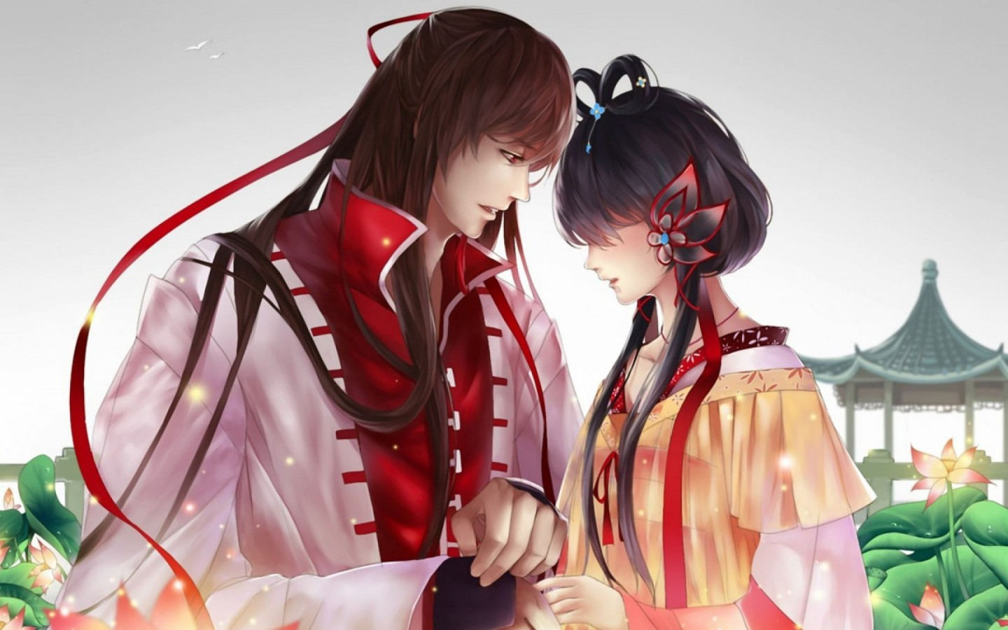 Cute Anime Couple Beautiful Hd Wallpaper for Desktop and ...