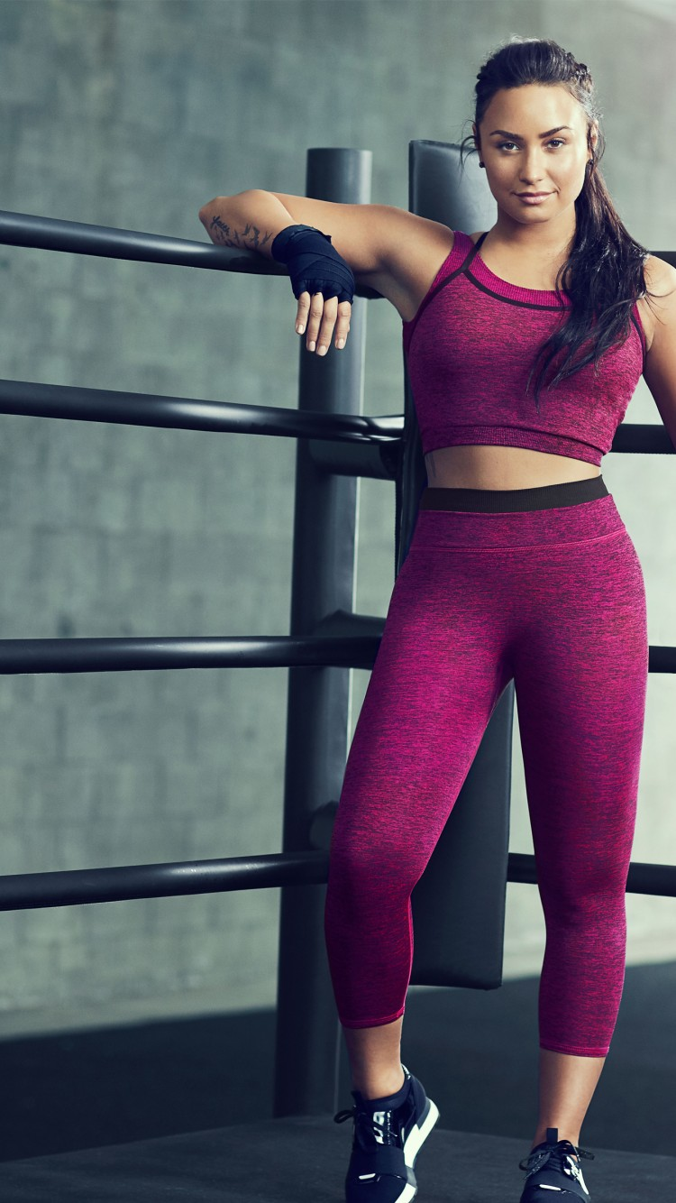 Demi Lovato Workout Hd Wallpaper for Desktop and Mobiles