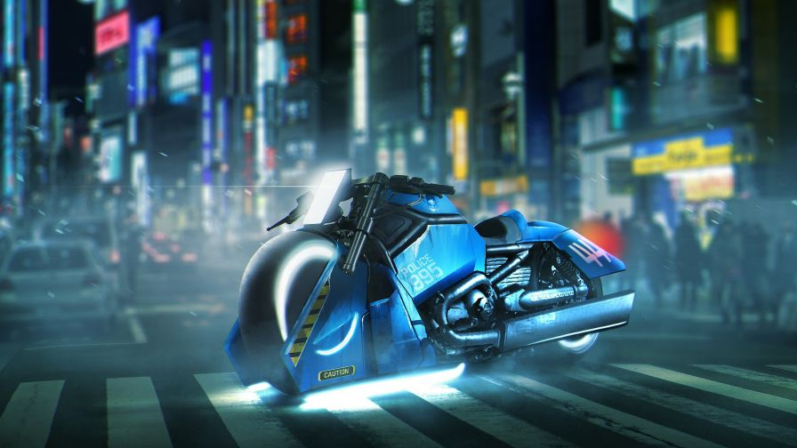 Download Free Blade Runner Harley Davidson HD Wallpaper for Desktop and Mobiles