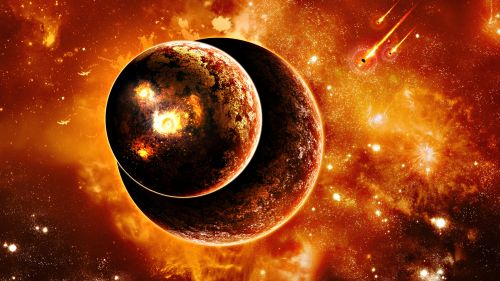Download Burning Planets Live Wallpaper for Desktop and Mobiles