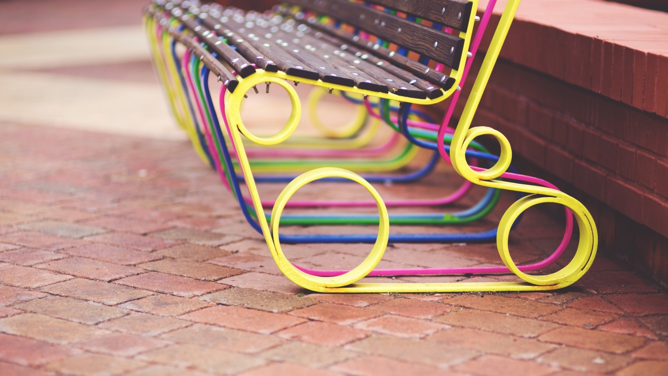 Download Colorful Bench HD Wallpaper for Desktop and Mobiles