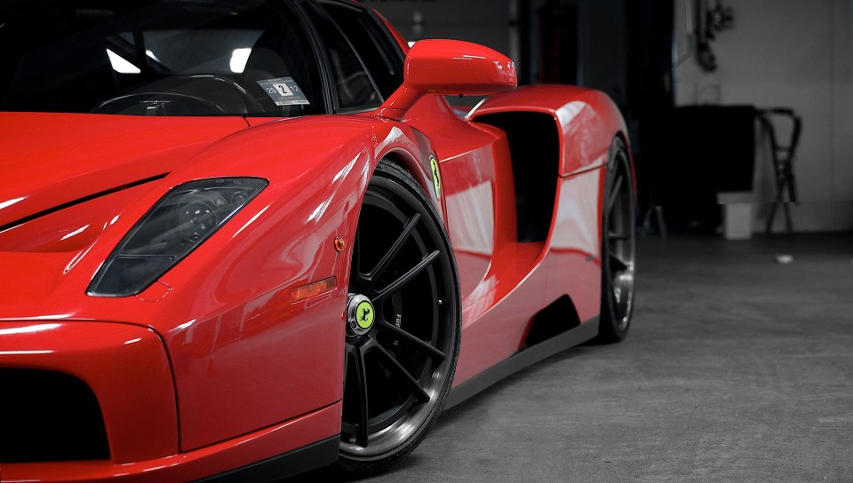 Download Enzo Ferrari Headlight Wheels Hd Wallpaper for Desktop and Mobiles