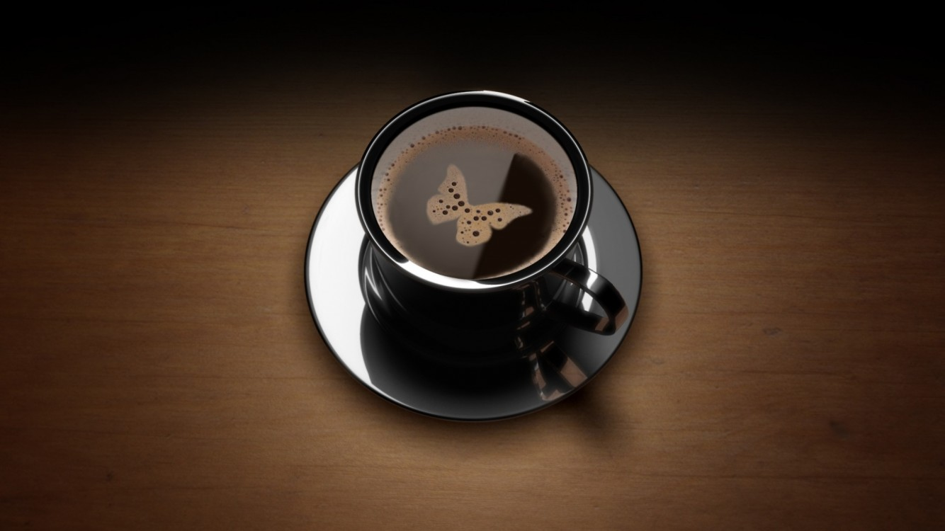 Download Free Butterfly Coffee Full Hd Wallpaper for Desktop and Mobiles
